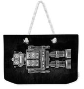 Star Strider Robot Red Bw Weekender Tote Bag