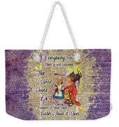 Alice With The Duchess Vintage Dictionary Art Weekender Tote Bag
