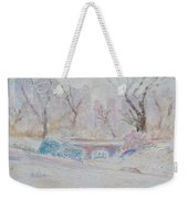 Central Park Record Early March Cold Circa 2007 Weekender Tote Bag