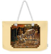 Whitetail Deer - Autumn Innocence 2 Weekender Tote Bag by Crista Forest