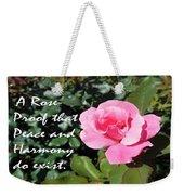 A Rose Is Proof Weekender Tote Bag
