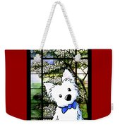 Westie At Dogwood Window Weekender Tote Bag