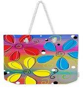 Bright Flowers Intertwined Weekender Tote Bag
