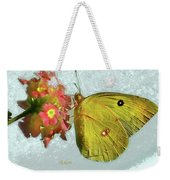 Southern Dogface Butterfly Feasting On December Lantanas Austin V2 Weekender Tote Bag
