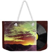 American Sunset As Vintage Album Art Weekender Tote Bag