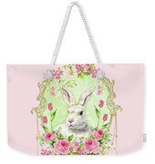 Spring Bunny Weekender Tote Bag by Wendy Paula Patterson
