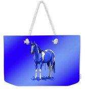 Royal Blue Wet Paint Horse Weekender Tote Bag