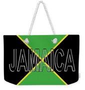 Flag Of Jamaica Word Weekender Tote Bag