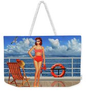 Beauty From The 50s In Bikini  Weekender Tote Bag