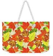 Fall Leaves Pattern Weekender Tote Bag