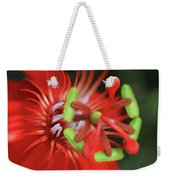 Passiflora Vitifolia Scarlet Red Passion Flower Weekender Tote Bag