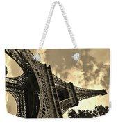 Sepia Eiffel Weekender Tote Bag