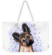 Curious Shepherd Puppy Weekender Tote Bag