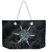 Real Snowflake Photo - The Shard Weekender Tote Bag by Alexey Kljatov