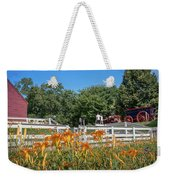 Daylilies And Oxen Wagon Weekender Tote Bag