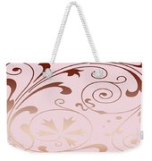 Rose Quartz Gold Komingo Weekender Tote Bag