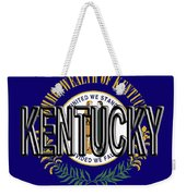 Flag Of Kentucky  Word Weekender Tote Bag