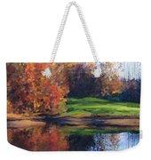 Autumn By Water Weekender Tote Bag