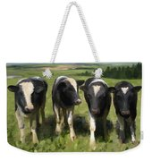 Curious Cows Weekender Tote Bag by Ivana Westin