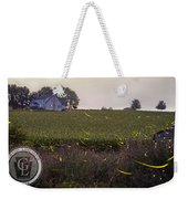 1300 - Fireflies And The House On Hillside Weekender Tote Bag