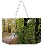 Autumn Bicycling Vertical One Weekender Tote Bag