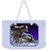 Wolf Painting - Night Watch Weekender Tote Bag