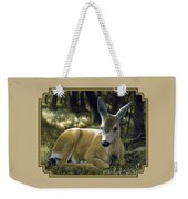 Mule Deer Fawn - A Quiet Place Weekender Tote Bag by Crista Forest