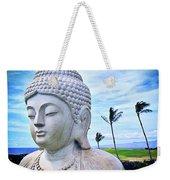 Go Where You Feel Most Alive Hawaiian White Buddha Weekender Tote Bag