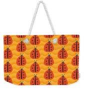 Orange Ladybug Masked As Autumn Leaf Weekender Tote Bag