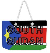 Flag Of  South Sudan Word Weekender Tote Bag