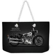 The Ss100 Vintage Motorcycle Weekender Tote Bag
