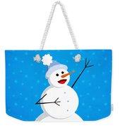 Cute Happy Snowman Weekender Tote Bag