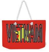 Flag Of Vietnam Word Weekender Tote Bag