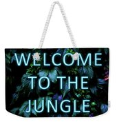 Welcome To The Jungle - Neon Typography Weekender Tote Bag