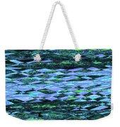 Blue Green Ocean Abstract Weekender Tote Bag