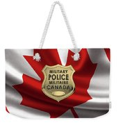 Canadian Forces Military Police C F M P  -  M P Officer Id Badge Over Canadian Flag Weekender Tote Bag