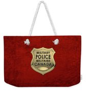 Canadian Forces Military Police C F M P  -  M P Officer Id Badge Over Red Velvet Weekender Tote Bag