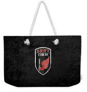 C.d.c.r Special Emergency Response Team - S.e.r.t. Patch Over Black Weekender Tote Bag