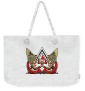 C.d.c.r. Crisis Response Team - C.r.t. Patch Over White Weekender Tote Bag