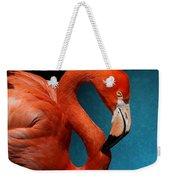 Profile Of An American Flamingo Weekender Tote Bag
