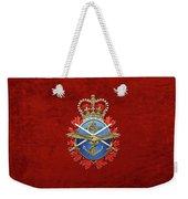 Canadian Armed Forces  -  C A F  Badge Over Red Velvet Weekender Tote Bag