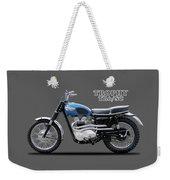 The Trophy Tr6 Sc Motorcycle Weekender Tote Bag