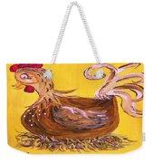 Hen Nesting Weekender Tote Bag by Eloise Schneider