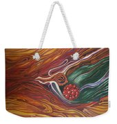 Abstraction With Red Balls Weekender Tote Bag