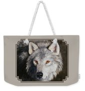 Wolf Portrait Weekender Tote Bag by Crista Forest