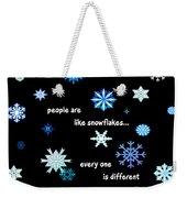 Snowflakes 4 Weekender Tote Bag