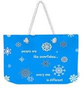 Snowflakes 5 Weekender Tote Bag