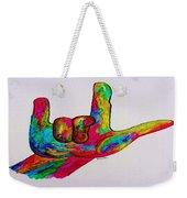 American Sign Language I Love You Weekender Tote Bag