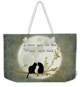 Love You To The Moon And Back Weekender Tote Bag by Linda Lees