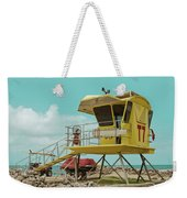 T7 Lifeguard Station Kapukaulua Beach Paia Maui Hawaii Weekender Tote Bag